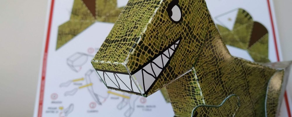 dinosaurio papertoy
